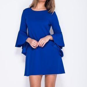 NWT Rachel Roy royal blue bell sleeve sheath dress
